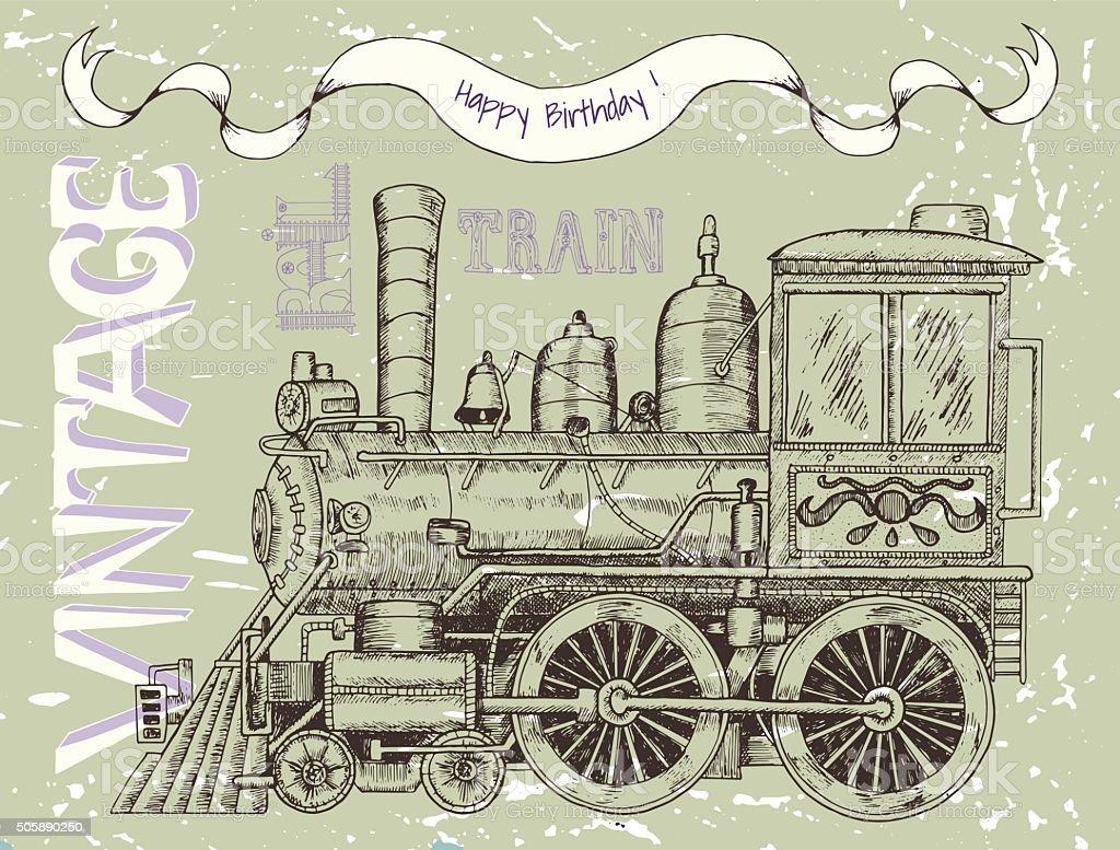 Подснежника, с днем рождения открытка паровозик