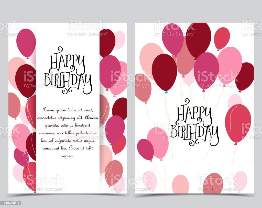 Happy Birthday Cards Lizenzfreies Stock Vektor Art Und Mehr Bilder Von Banneranzeige