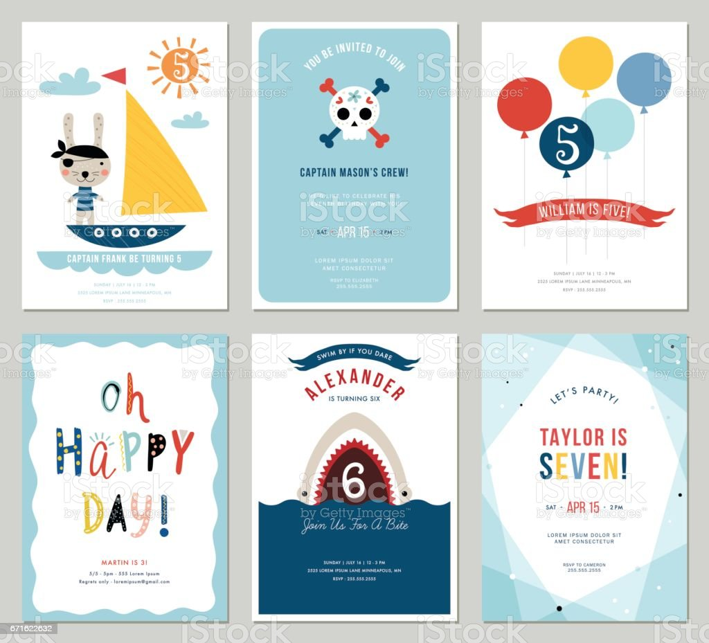 Happy Birthday Cards_01 - illustrazione arte vettoriale
