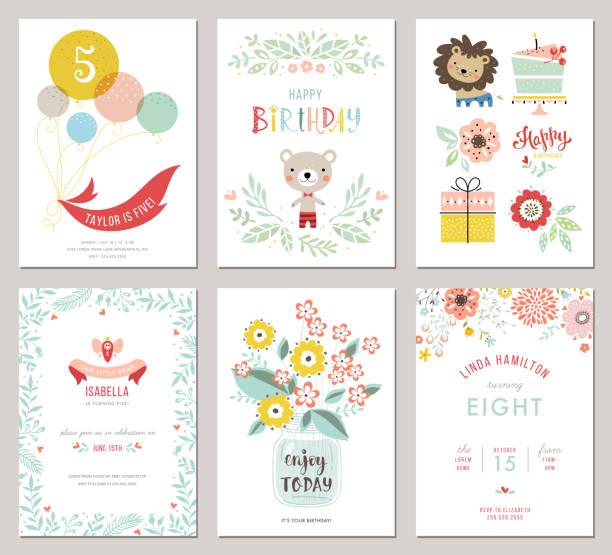 Happy Birthday Cards_03 vector art illustration