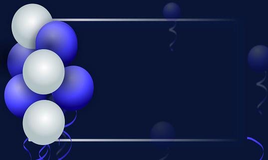 happy birthday celebration card design stock illustration