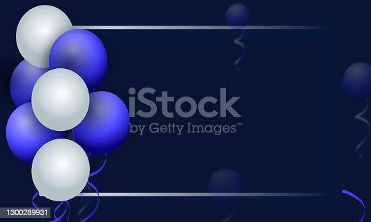 istock happy birthday celebration card design stock illustration 1300289931