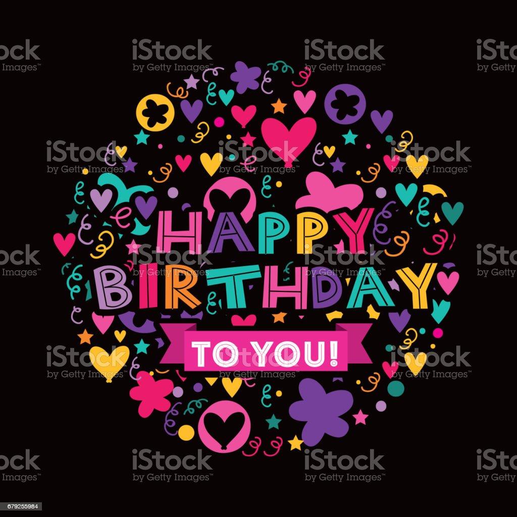 happy birthday celebration card icon happy birthday celebration card icon - arte vetorial de stock e mais imagens de aniversário royalty-free
