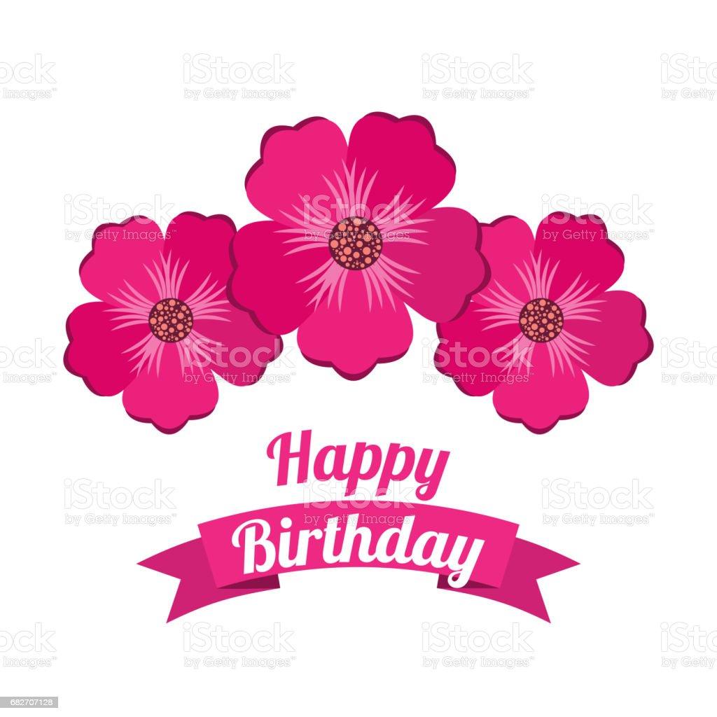 2f8244b9f cartel de feliz cumpleaños fiesta floral ilustración de cartel de feliz  cumpleaños fiesta floral y más