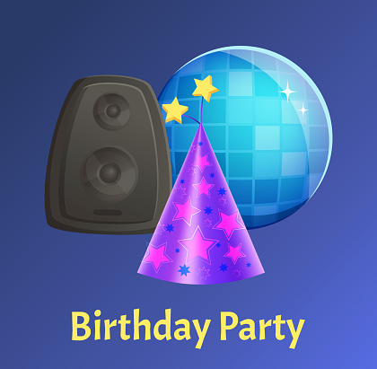 Happy Birthday Celebration Special Holiday Vector