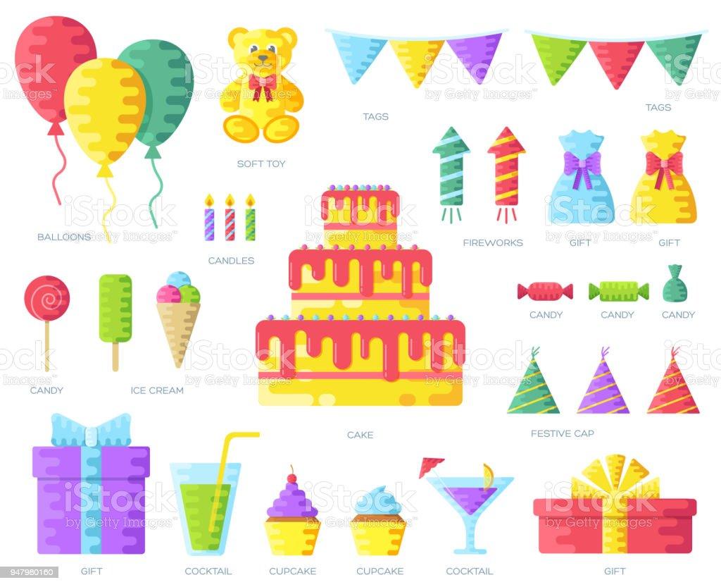 Alles Gute Zum Geburtstagkreisinfografikenvorlagekonzept ...