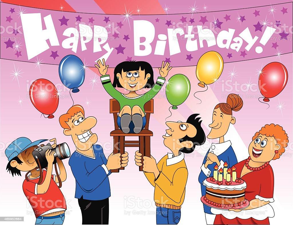 Happy Birthday Daughter Stock Illustration - Download Image