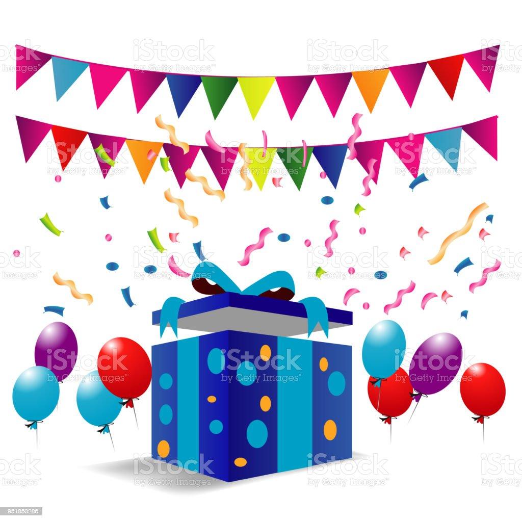 Ilustración De Diseño Feliz Cumpleaños Para Tarjetas