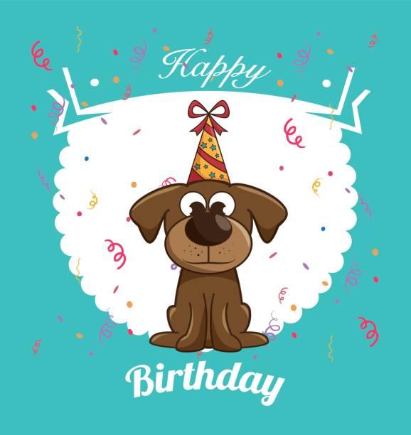Happy Birthday Dog Card Silhouette Clip Art Vector Images – Happy Birthday Dog Card