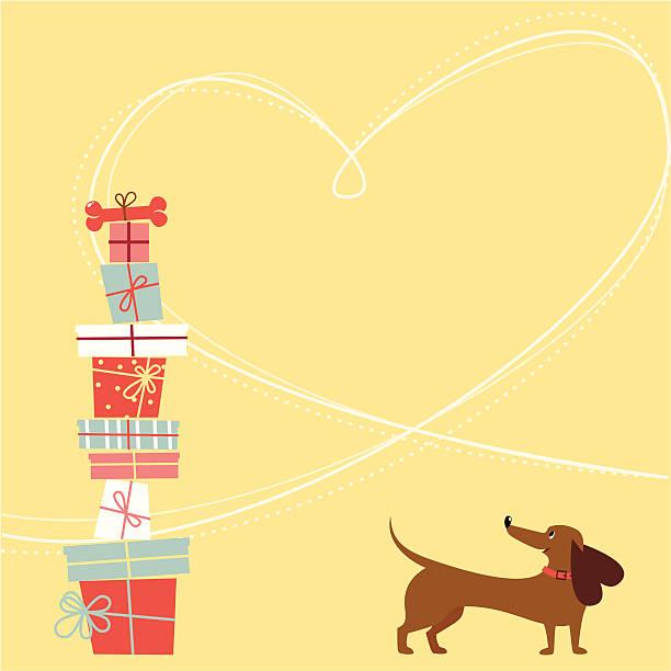 ハッピーバースデーツーユー犬 - 誕生日の贈り物点のイラスト素材/クリップアート素材/マンガ素材/アイコン素材
