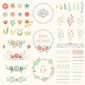 Happy Birthday Floral Set