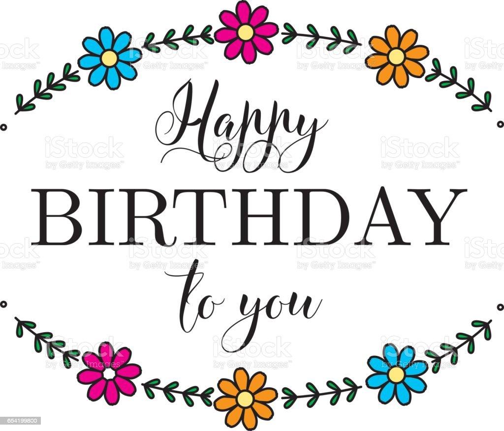 Happy birthday flower card stock vector art more images of adult happy birthday flower card royalty free happy birthday flower card stock vector art amp izmirmasajfo