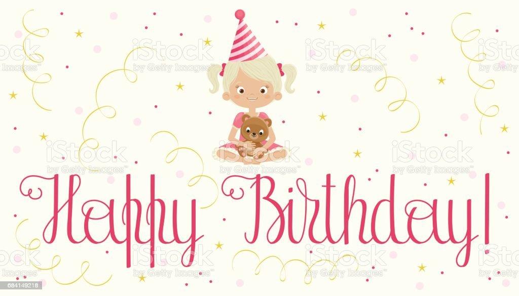 Happy birthday girl royalty-free happy birthday girl stock vector art & more images of bear