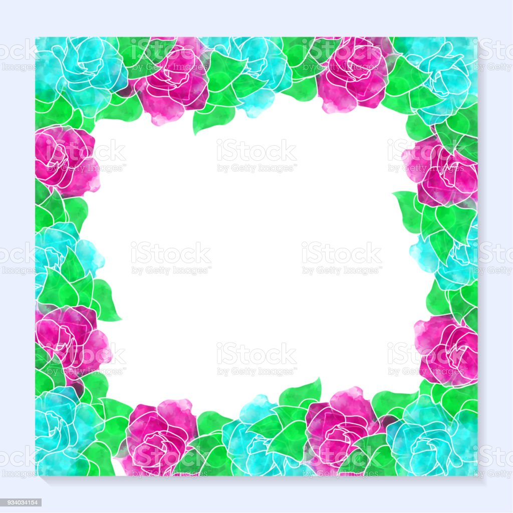 Happy Birthday Greeting Card Background Template Stock Vector Art