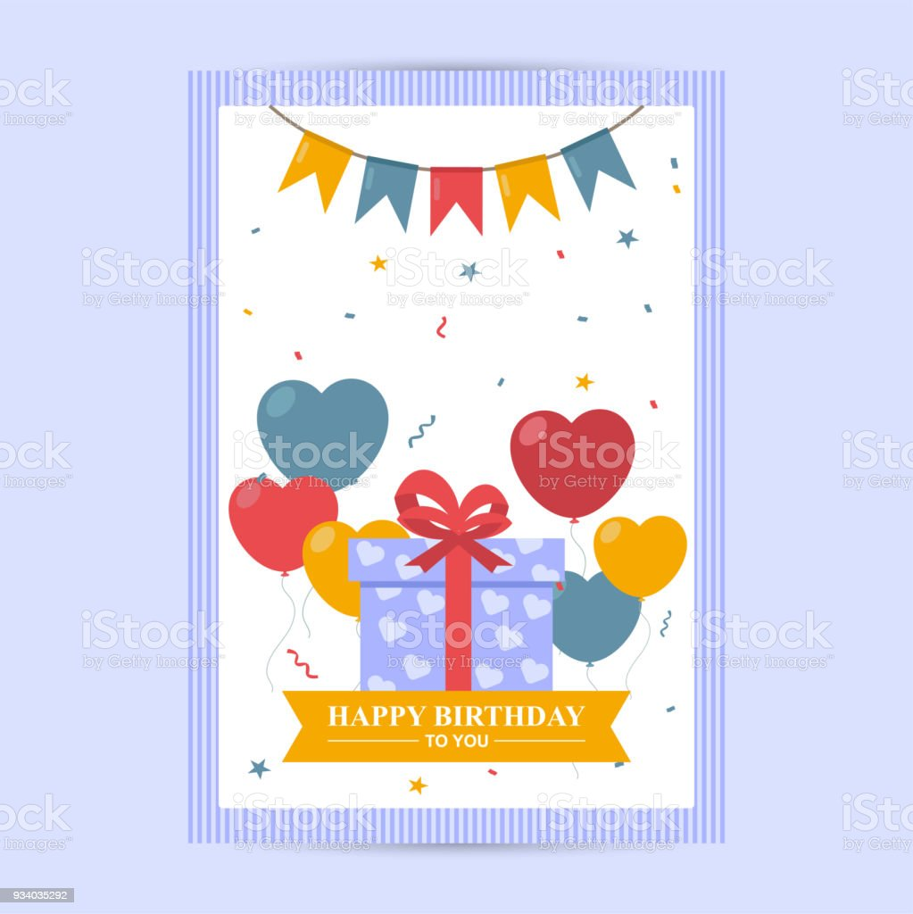 Happy birthday greeting card background template stock vector art happy birthday greeting card background template royalty free happy birthday greeting card background template stock m4hsunfo
