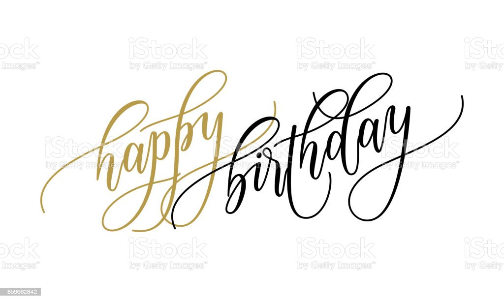 Happy birthday greeting card calligraphy hand drawn vector postcard happy birthday greeting card calligraphy hand drawn vector postcard font lettering royalty free happy birthday m4hsunfo