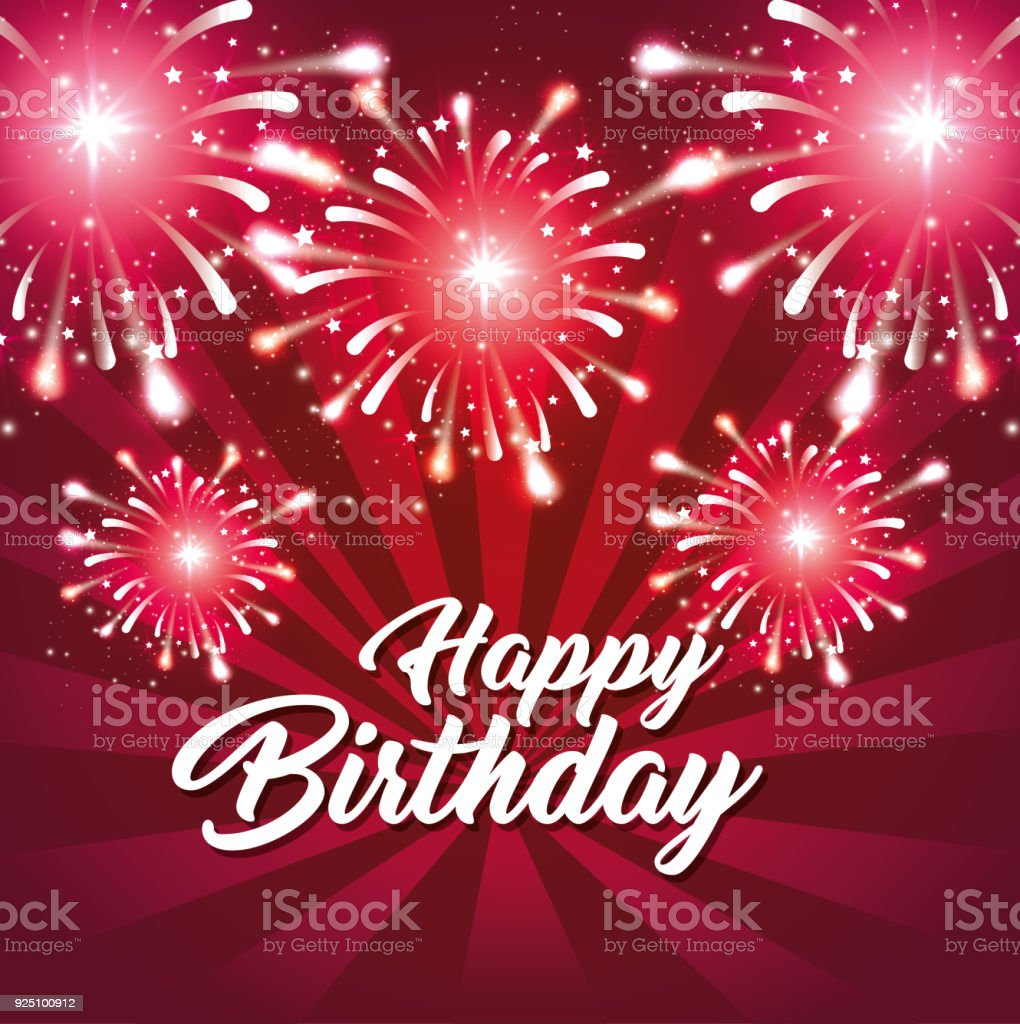 Happy birthday greeting card colorful fireworks stock vector art happy birthday greeting card colorful fireworks royalty free happy birthday greeting card colorful fireworks stock m4hsunfo