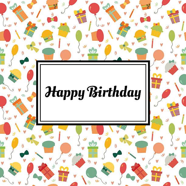 illustrations, cliparts, dessins animés et icônes de carte de voeux joyeux anniversaire. joli carte postale - ballon anniversaire smiley
