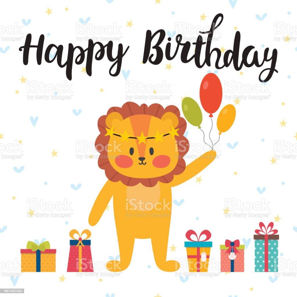 Happy Birthday Greeting Card Cute Postcard With Funny Little Bunny – Funny Happy Birthday Greeting Cards