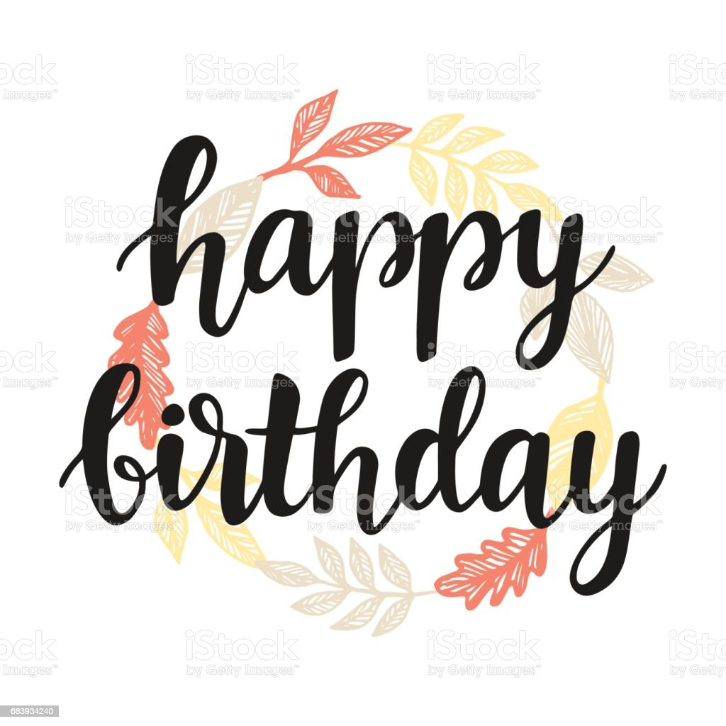 Happy birthday greeting card design template stock vector art more happy birthday greeting card design template royalty free happy birthday greeting card design template stock m4hsunfo