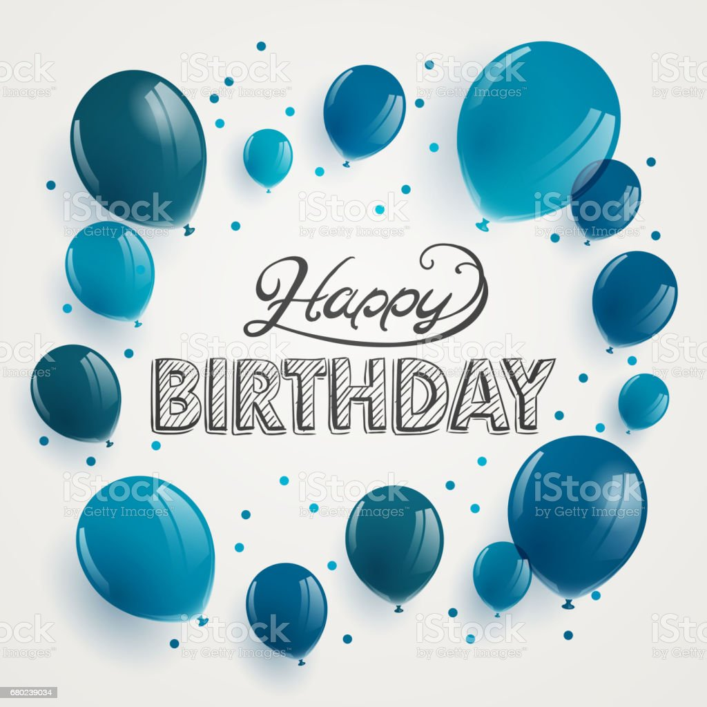 Happy Birthday Greeting Card Design vector art illustration