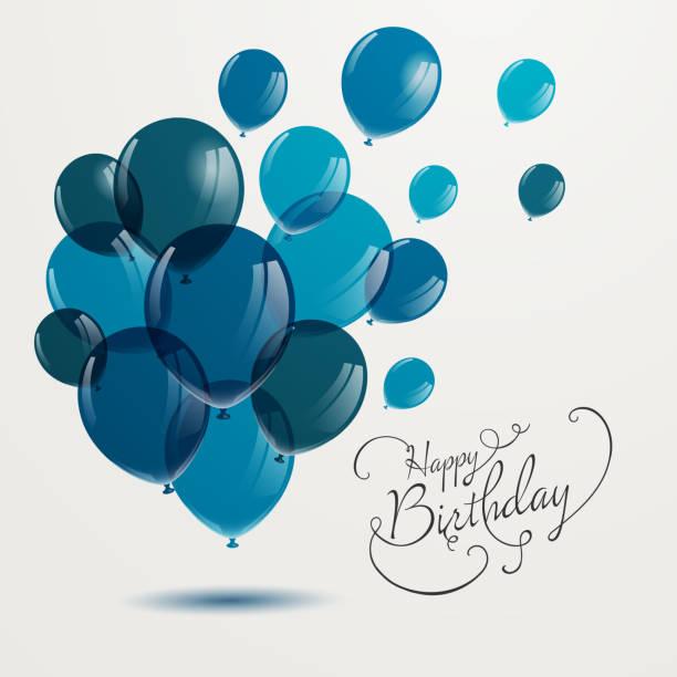 Happy Birthday Greeting Card Design vector art illustration