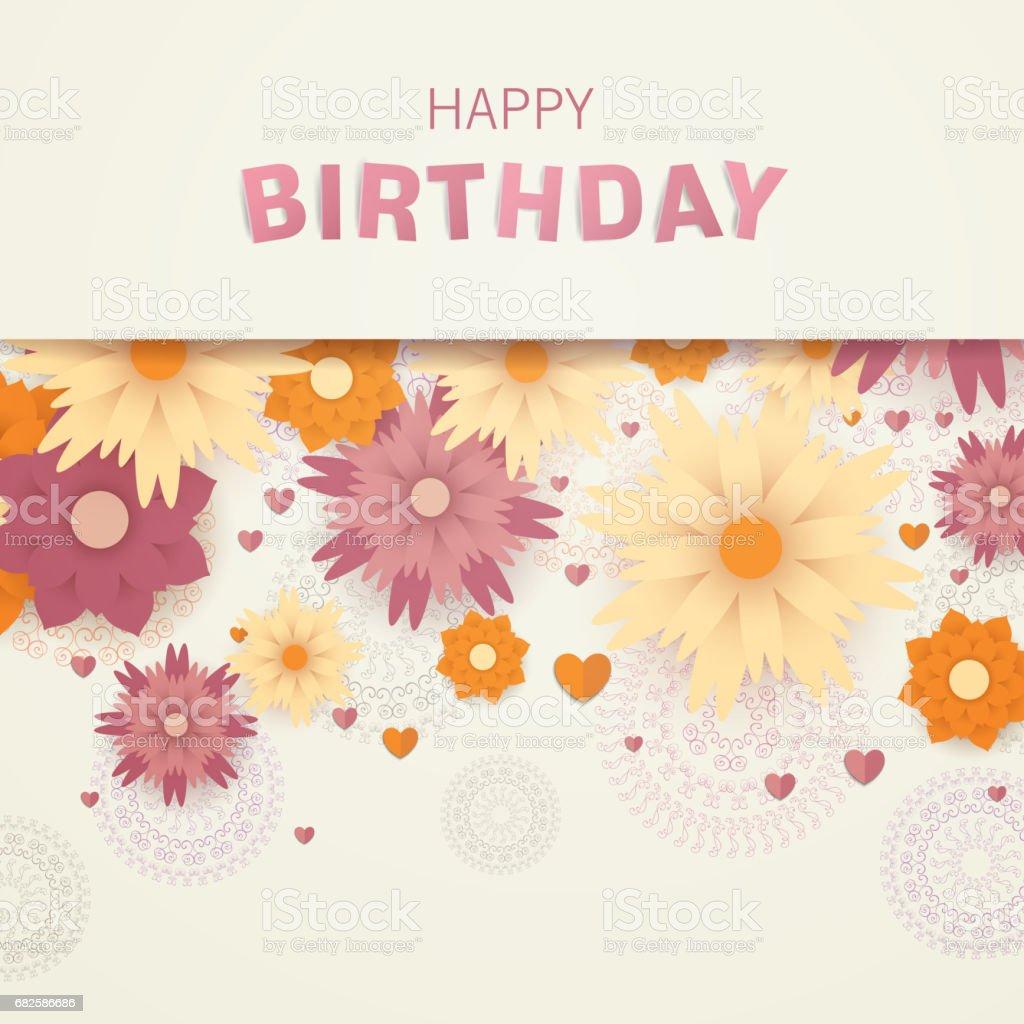 Happy Birthday Greeting Card Design Lizenzfreies Stock Vektor Art Und Mehr