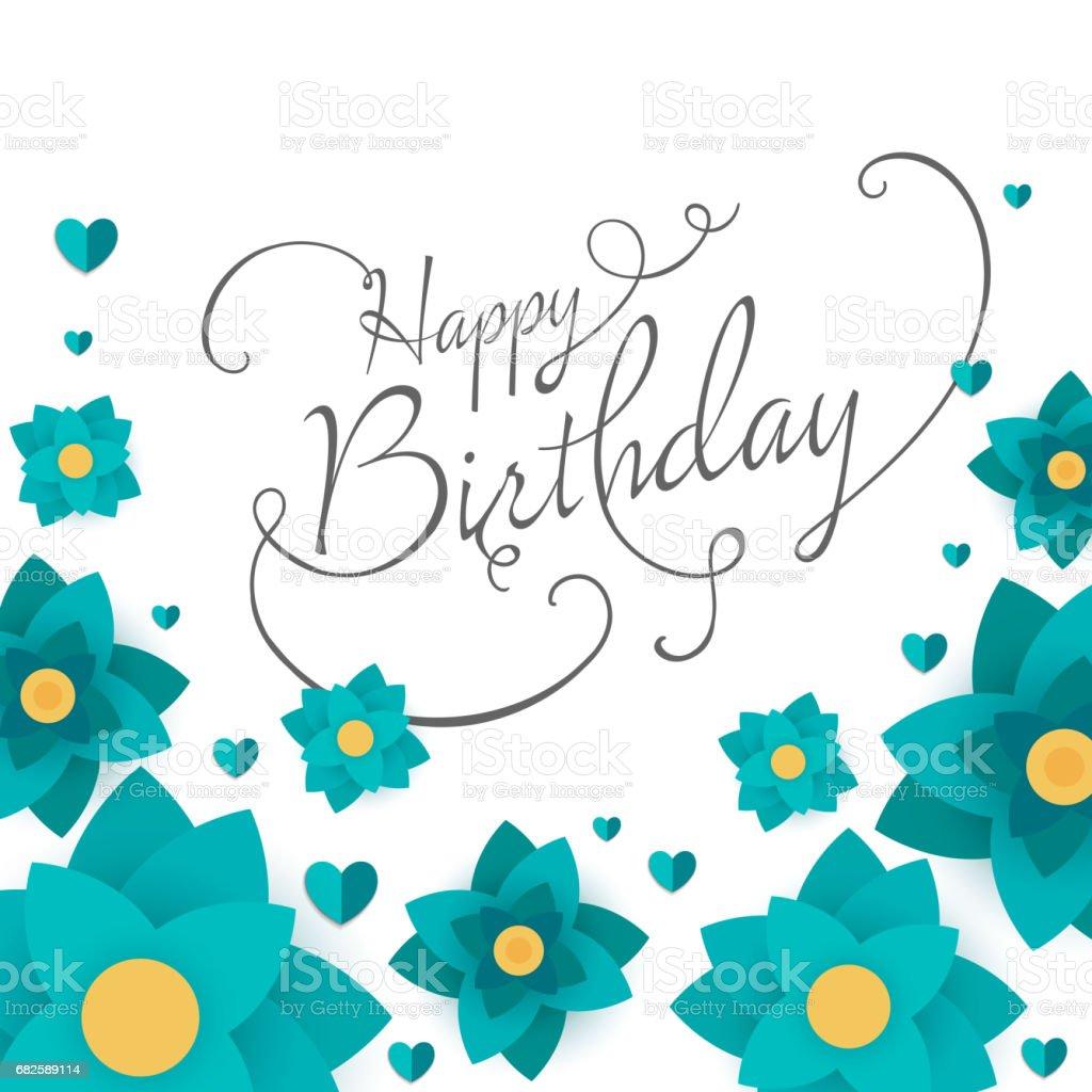 Happy Birthday Greeting Card Design Stock Vektor Art Und Mehr Bilder