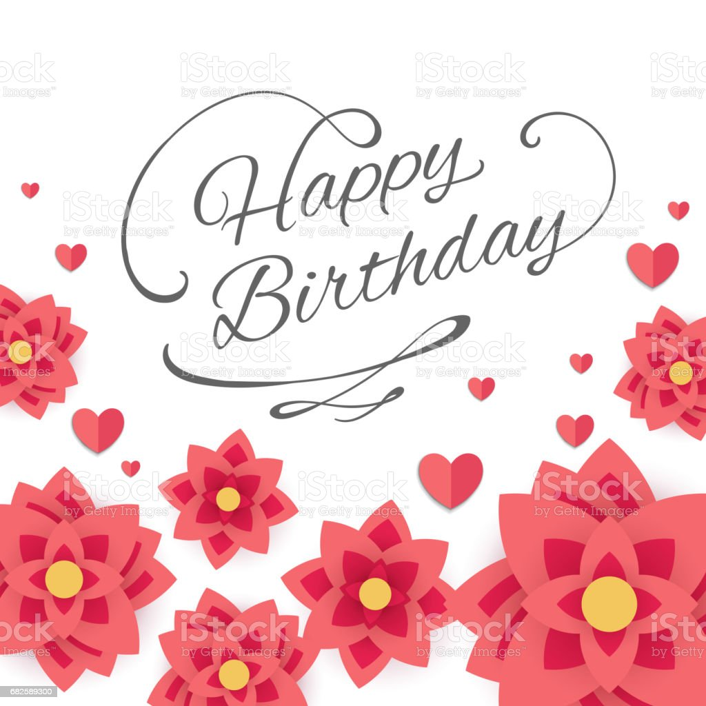Happy Birthday Greeting Card Design Lizenzfreies Stock Vektor Art Und Mehr