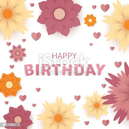 Happy Birthday Greeting Card Design Stock Vector Art More Images