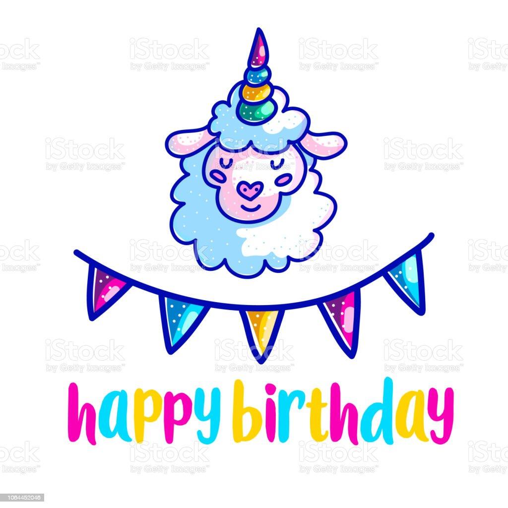 Happy Birthday Greeting Card Design Vector Template Stock Vector Art
