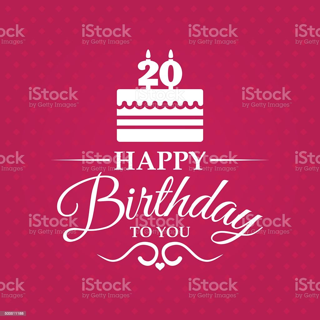 Happy birthday greeting card for 20 years stock vector art more happy birthday greeting card for 20 years royalty free happy birthday greeting card for kristyandbryce Image collections