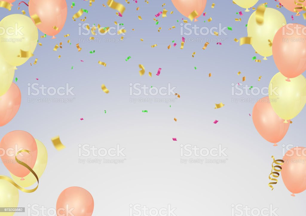 Happy Birthday Greeting Card Gold And Pink Birthday Card Template