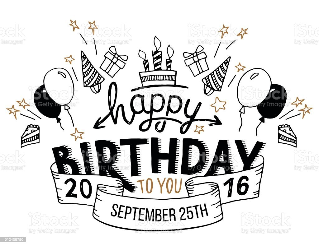 Happy birthday greeting card hand lettering stock vector art more happy birthday greeting card hand lettering royalty free happy birthday greeting card hand lettering stock kristyandbryce Image collections