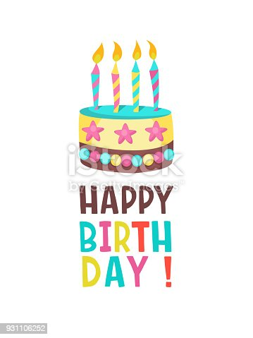 Happy Birthday Greeting Card Lovely Birthday Cakes With Candles
