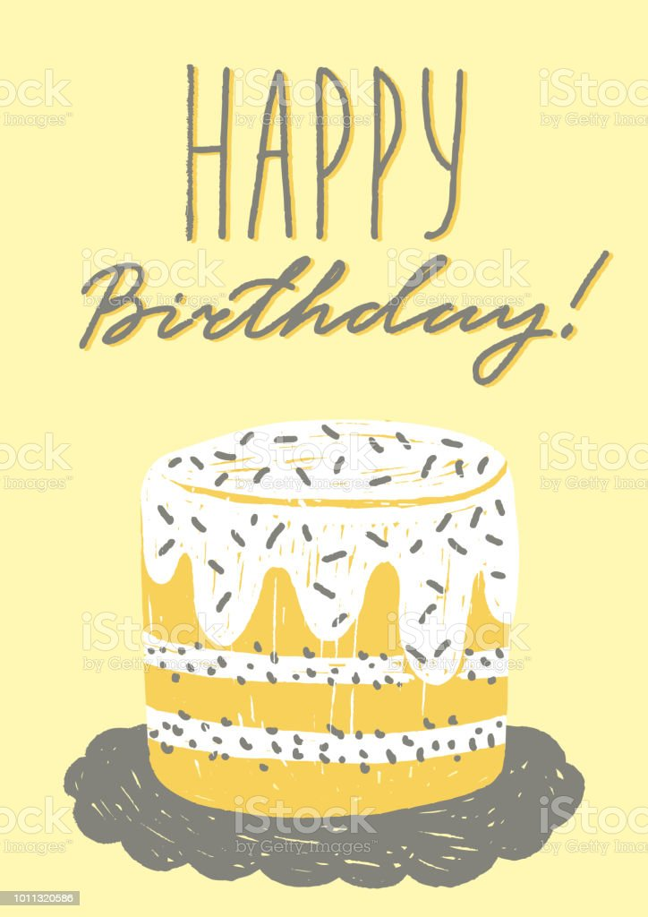 Happy Birthday Greeting Card Template Vector Illustration With