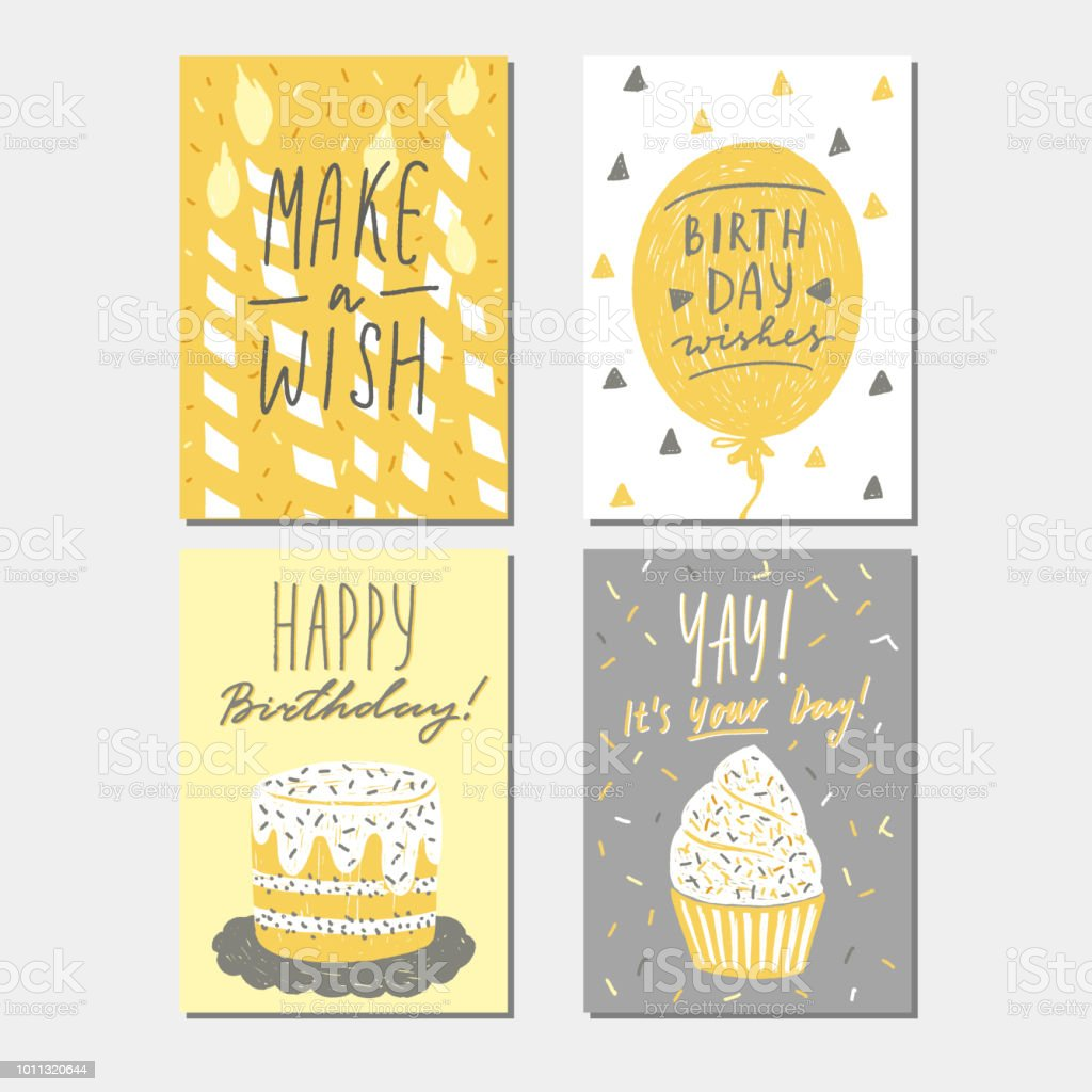Happy Birthday Greeting Card Templates Collection