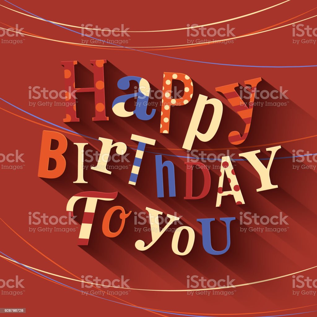 Happy birthday greeting card text on red background vector stock happy birthday greeting card text on red background vector royalty free happy m4hsunfo