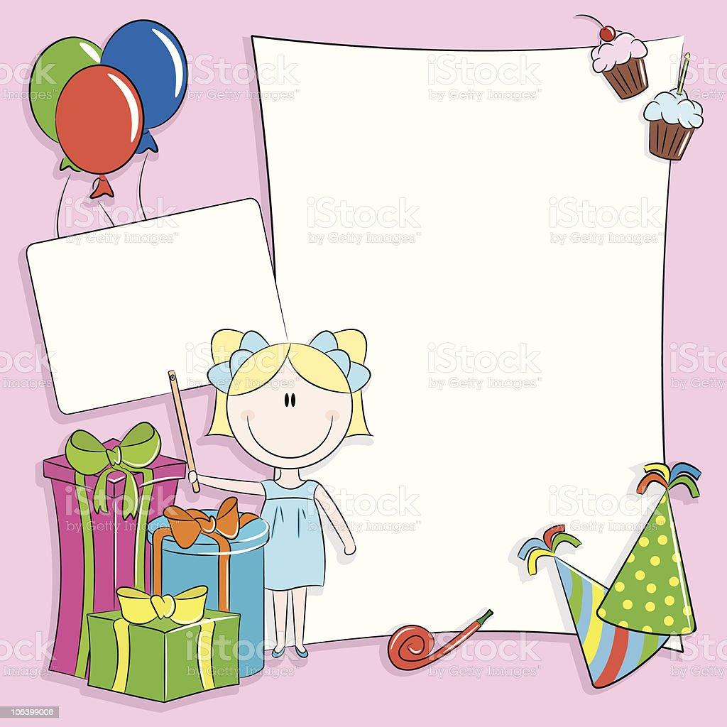 Happy birthday greeting card royalty-free stock vector art