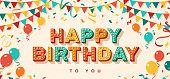 istock Happy Birthday greeting card 1151005334