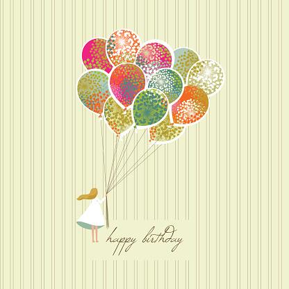 A happy birthday greeting card