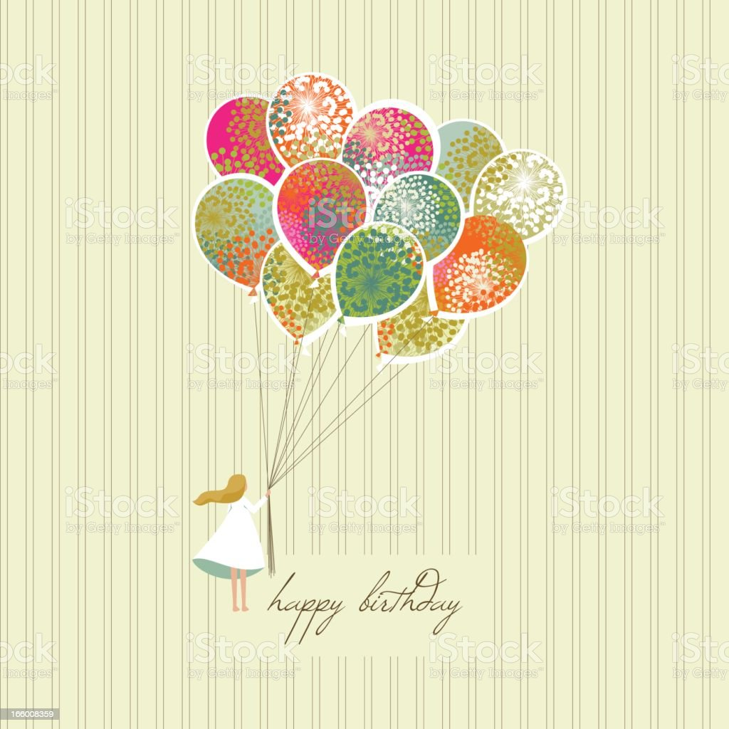 A happy birthday greeting card vector art illustration