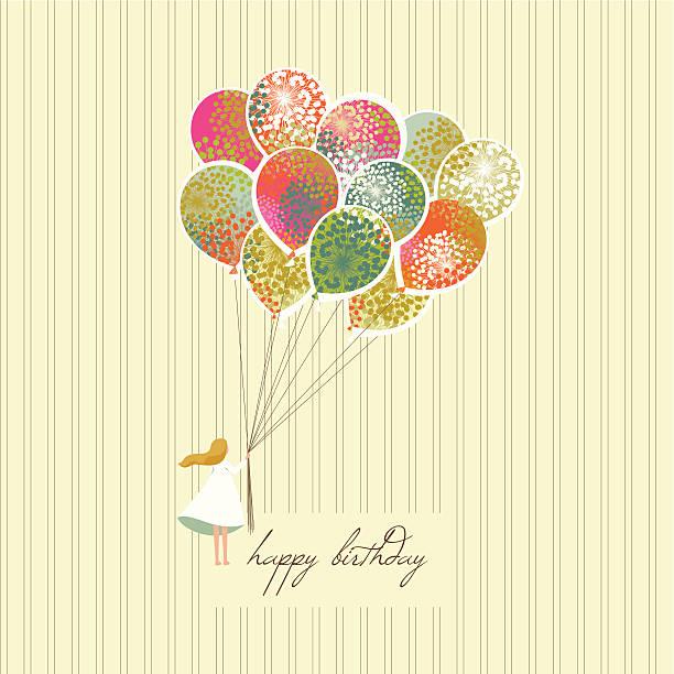 A happy birthday greeting card vector art illustration