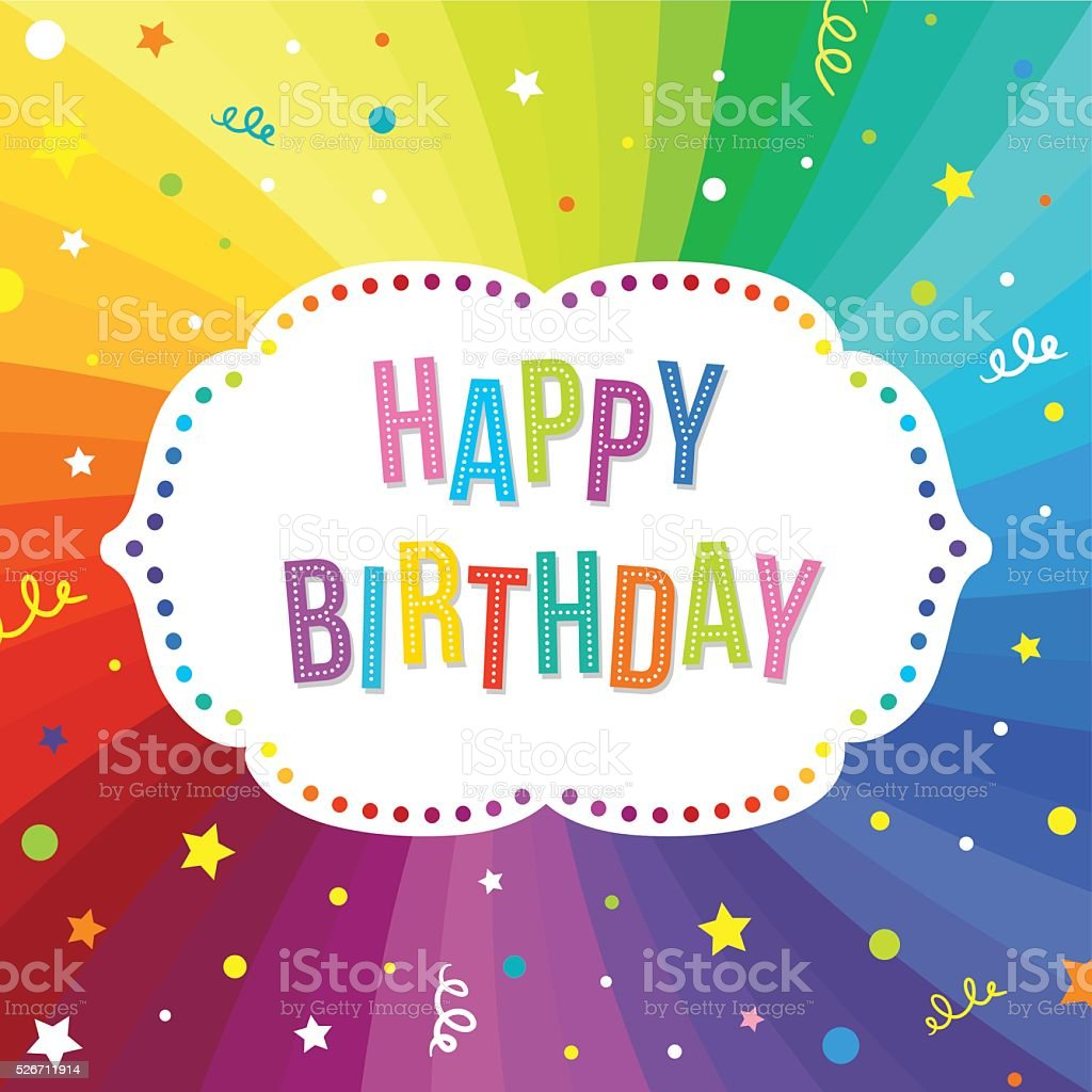 Happy Birthday Greeting Card. vector art illustration