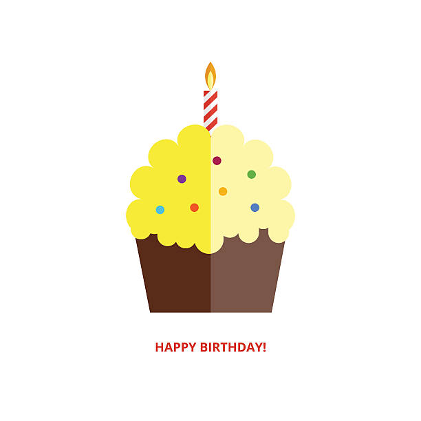 Happy Birthday Greeting Card Vector Art Illustration
