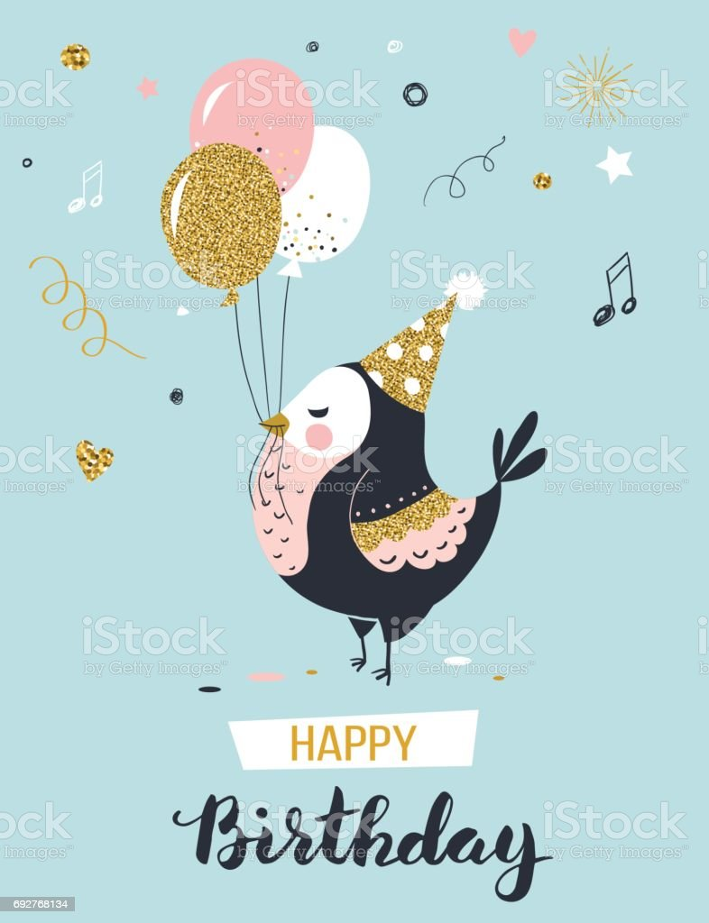 Happy Birthday Greeting Card Stock Vector Art More Images Of