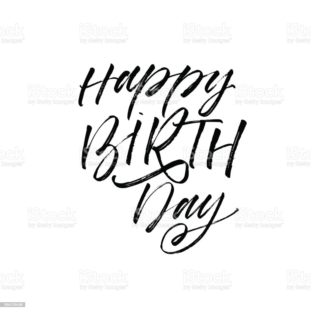 Happy birthday greeting card with lettering design stock vector art happy birthday greeting card with lettering design royalty free happy birthday greeting card with m4hsunfo