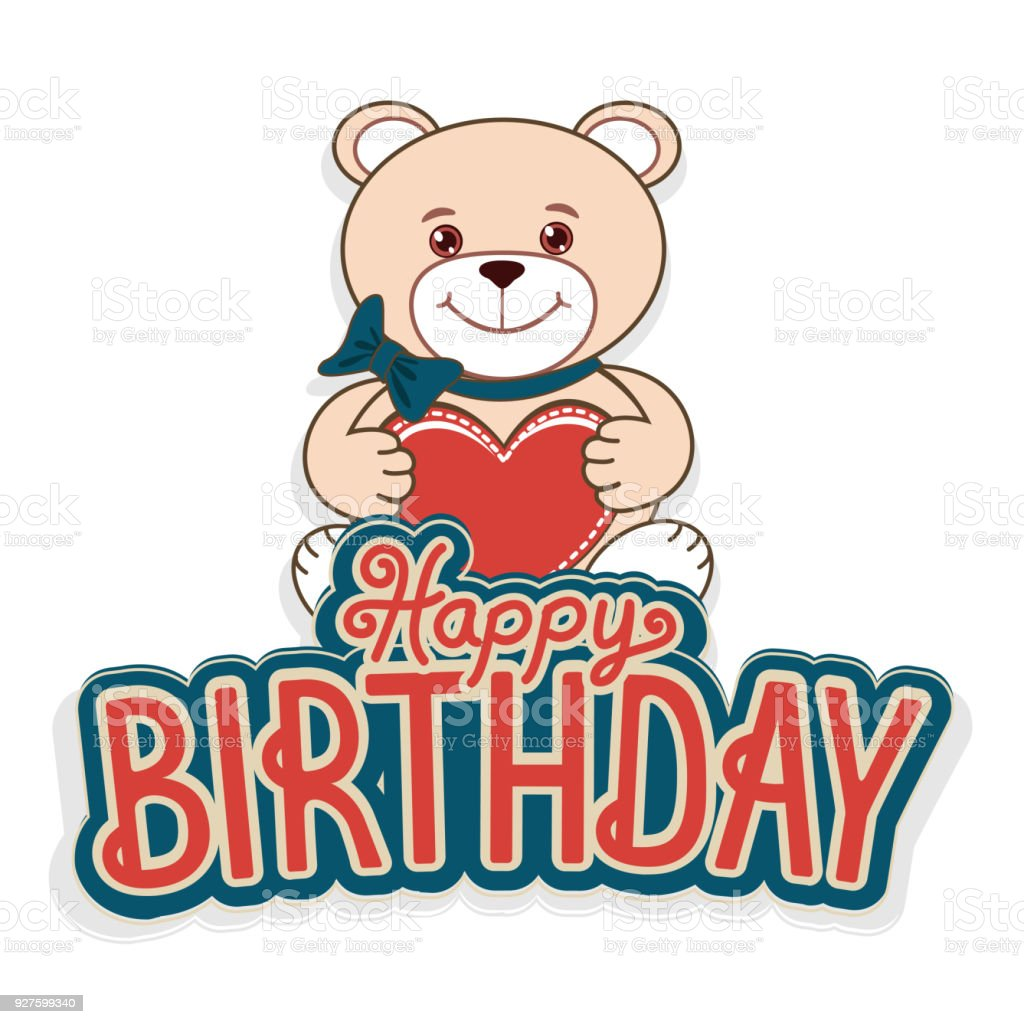 Happy birthday greeting cards with a cheerful teddy bear stock happy birthday greeting cards with a cheerful teddy bear royalty free happy birthday greeting cards m4hsunfo