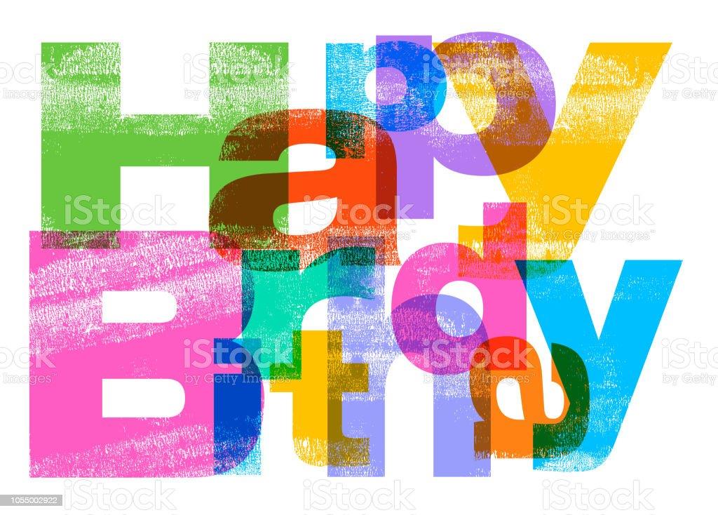 生日快樂問候向量藝術插圖