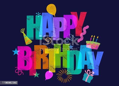 istock Happy Birthday Greeting 1196982382